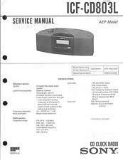 Sony Original Service Manual per ICF-CD 803l