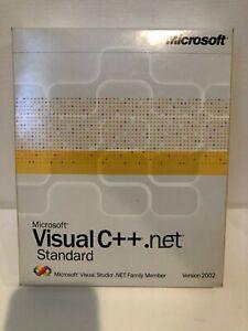 MICROSOFT VISUAL C++.NET Standard Version 2002 Complete Software