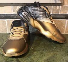 Mens Size 9.5 Puma Shoes Athletic Blaze Of Glory Sock Core Trinomic Gold Black