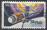 USA Briefmarke gestempelt 10c Skylab Weltraum Rundstempel / 603