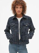 Gap $128.00 Icon Tweed Jacket, Size XS Navy Tweed
