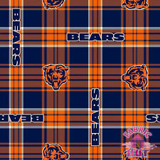 Chicago Bears Plaid NFL Fleece Fabric 6411 D