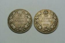 Canadian Silver Quarters from Canada, VG+ 1910, Fine+ 1912 - C8147
