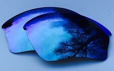 ENGRAVED POLARISED ICE BLUE MIRROR REPLACEMENT OAKLEY HALF JACKET XLJ LENSES