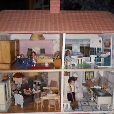 Altes Puppenhaus Holz, renoviert, gebraucht, sehr viel Zubehör, Möbel, Puppen