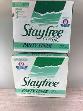 Lot Of 2 Vintage 1993 Stayfree maxi Pads unscented panty liner movie prop