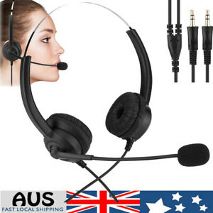 3.5mm Wired Over-Ear Headphone Stereo Headset with Microphone for PC Laptop