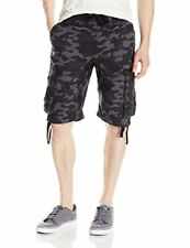 Southpole Men's Jogger Shorts With Cargo Pockets In Solid and Camo Colors gre...