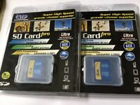 Lot of 2pcs 128mb ATP Standard SD MEMORY CARD old SD Devices,palm,PDA camera