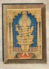 Vintage Rare Hindu God Shri Swaminarayan Ghanshayam Maharaj Litho Print Framed