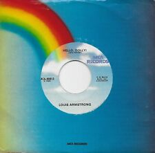 LOUIS ARMSTRONG  Hello Dolly / Blueberry Hill 45