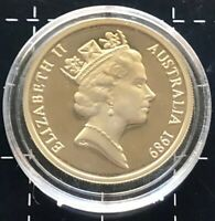 1989 AUSTRALIAN 10 CENT PROOF MINT COIN - UNC IN CAPSULE LOW MINTAGE RARE