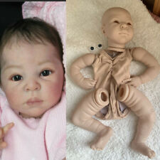 """DIY 22"""" Unpainted Doll Accessories Silicone Reborn Baby Doll Kits Soft Touch"""
