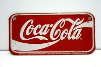 Vintage Kids Bike Bicycle Coke Coca Cola Novelty  License Plate Tag