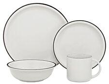 Melange 16-Piece Contempo Cantina Premium Platinum Plate Cup Bowl Set Nice Gift