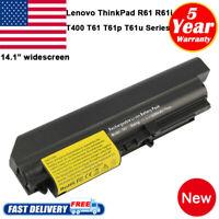 "Battery for Lenovo ThinkPad R61 T61 T400 R400 Series 14.1"" Widescreen 41U3198 PC"