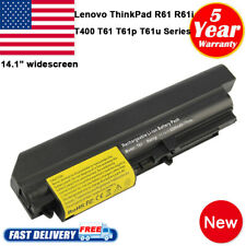 """6Cell Battery for Lenovo ThinkPad T61 R61 T400 R400 T61P 14.1"""" widescreen Fast"""