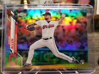 2020 Topps Chrome Base Refractor #155 Logan Allen RC - Cleveland Indians