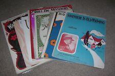 18 Vintage Sheet Music, U.S. States, Ca, etc