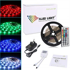 ALED LIGHT 5050 LED Strip Set 16.4 ft 5M 150 SMD RGB Non-Waterproof Colour LED