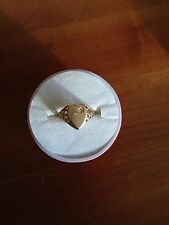 ⭐️SALE⭐️WOW⭐️10K YELLOW Gold Initial/in Signet Diamond HEART Ring-Retails $499