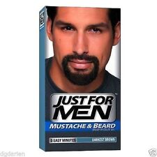 LOT of 3 Just For Men Brush-In Color Gel for Mustache & Beard, Darkest Brown M-5