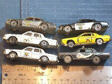 TOY CARS LOT 6 POLICE BLACK: SHERIFF 701, SHERIFF 701; YELLOW FIRE DEPT.; WHITE