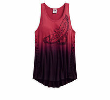 Harley Davidson Ladies Braided Dip Dye Tank Top 96002-18VW Large