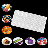 Clear Hard Chocolate Maker Polycarbonate PC DIY 24 Half Ball Candy Mold Mould AU