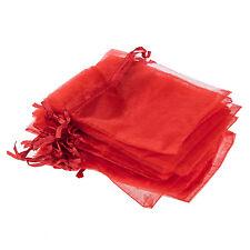 30 Pochette Sachet Sac en Organza Rouge Mariage 12x10cm WT