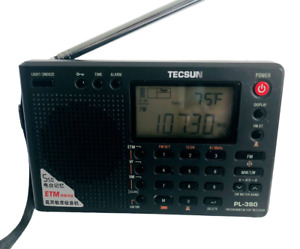 Tecsun PL380 DSP AM FM Shortwave LW PLL Radio Receiver PL-380 Gray EUC