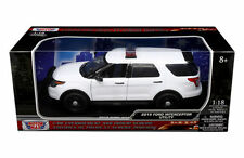 MOTOR MAX 1:18 2015 FORD INTERCEPTOR UTILITY WHITE Color Diecast Car 73541