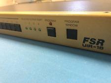 FSR UIR-16 UNIVERSAL INFRARED CONTROLLER