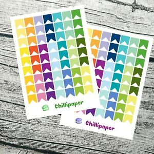 Mini rainbow flags   Planner Stickers for MAMBI and Erin Condren Planners.