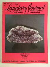 Lapidary Journal Magazine 1970 February Giant 30-Inch Amethyst Cluster, Brazil