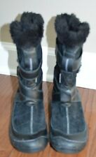 NEW Privo Womens Black Suede Winter Boots Clarks Waterproof Size 6M