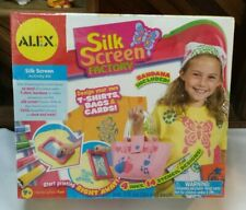 Alex Toys Silk Screen Factory Handcrafted Activity Kit 4 Inks 14 Stencils Nib 7+