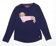 Joules Girls Blue   Basic T-Shirt Size 7-8 Years  - Sausage Dog