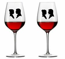 9 x Star Wars PRINCESS LEIA & HAN SOLO Vinyl Decal Wine Glass stickers