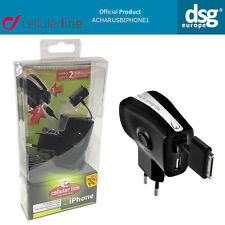 CELLULARLINE ACHARUSBIPHONE1 REWINDABLE CHARGER PLUG USB EXTRA POWER 2PIN iPhone