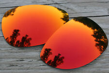 Fire Orange Red Mirrored Polarized Replacement Sunglass Lenses for Oakley Felon