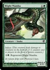 BLIGHT MAMBA Scars of Mirrodin MTG Green Creature — Snake Com