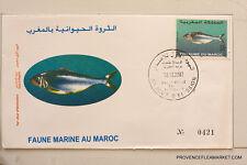 MAROC premier jour d emission  FAUNE MARINE  2002   MA22
