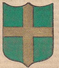 1865 Stemma di Pola (araldica civica), Istria litografia