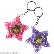 6 PRINCESS STAR PARTY COMPLEANNO favorisce GLITTER photo frame portachiavi portachiavi