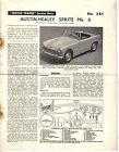 Austin Healey Sprite Mk 2 Motor Trader Service Data No. 381  1961