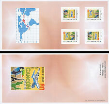 """J Collector Booklet Perso stamps """"A380 Air France, 1st Flight Paris-Cancun"""" 2013"""