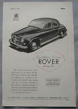 1951 Rover Seventy-Five Original advert No.1