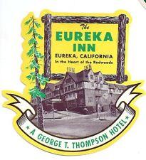 Eureka Inn Hotel Luggage Label Eureka, California.- Fine