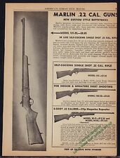 1945 MARLIN Model 101, 100SB, 80-C .22 Rifle AD